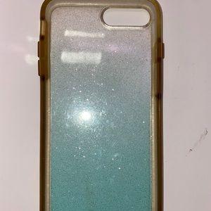 Otter box Blue/White ombré glitter